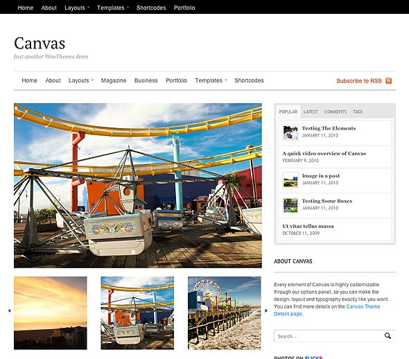 WordPress Canvas Gallery