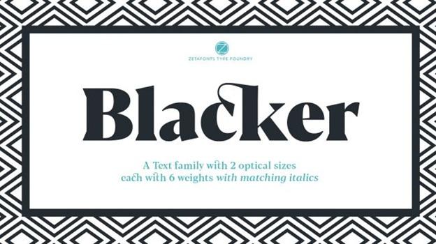 Blacker (serif)